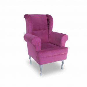 Fotel tapicerowany Decor różowy