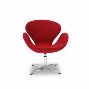 Fotel tapicerowany Swan czerwony