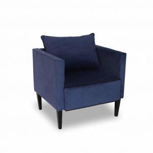 Fotel tapicerowany Viva niebieski