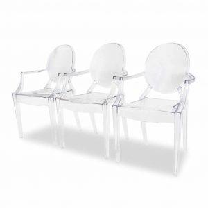 Krzesło transparentne Ghost