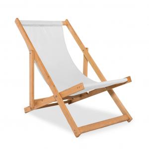 Leżak plażowy biały