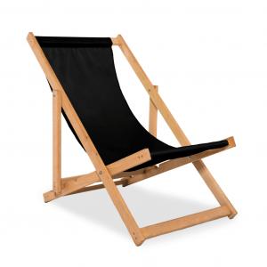 Leżak plażowy czarny