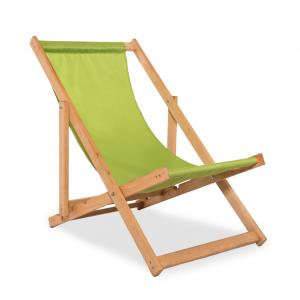 Leżak plażowy zielony