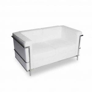 Sofa ekoskóra 2 os. Vega biała