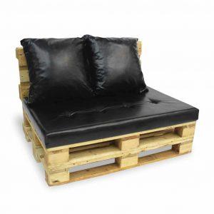 Sofa paletowa 2 os. natural czarna