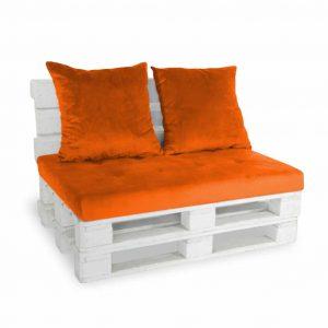 Sofa paletowa 2 os. pomarańczowa
