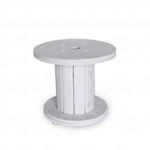 Stolik Szpula fi60 biały