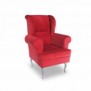 Fotel tapicerowany Decor czerwony