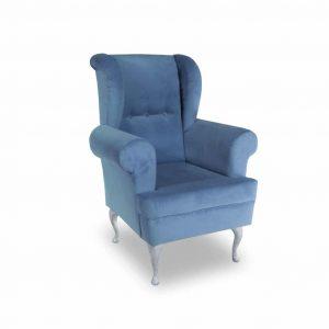 Fotel tapicerowany Decor niebieski