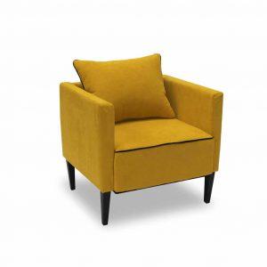 Fotel tapicerowany Viva żółty