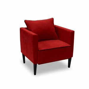 Fotel tapicerowany Viva czerwony