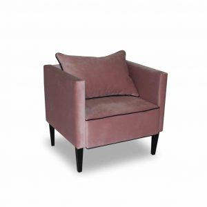 Fotel tapicerowany Viva różowy
