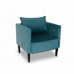 Fotel tapicerowany Viva turkusowy