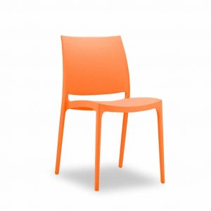 Krzesło Maya pomarańczowe