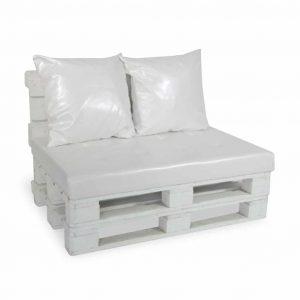 Sofa paletowa 2 os. biała