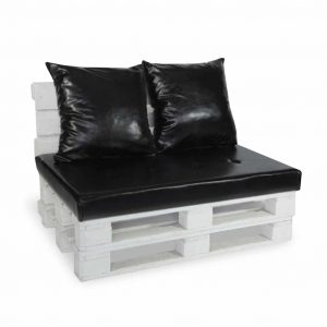 Sofa paletowa 2 os. czarna