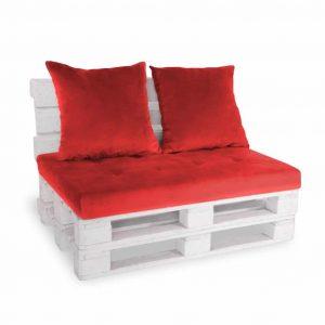 Sofa paletowa 2 os. czerwona