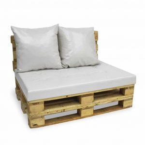 Sofa paletowa 2 os. natural biała