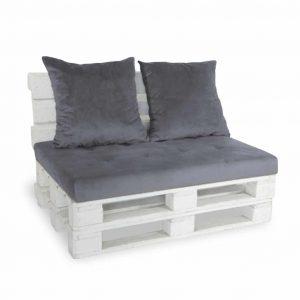 Sofa paletowa 2 os. szara
