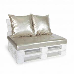 Sofa paletowa 2 os. złota