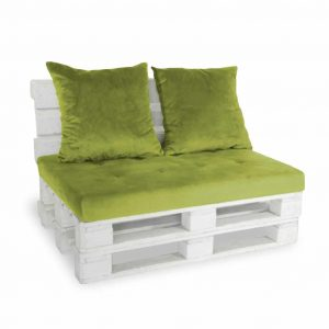 Sofa paletowa 2 os. zielona