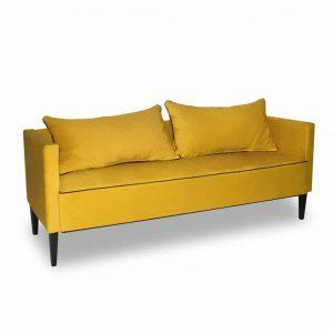 Sofa tapicerowana 3 os. Viva żółta