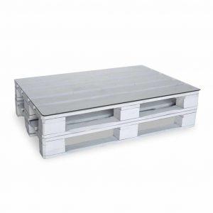 Stolik paletowy 120x80 biały